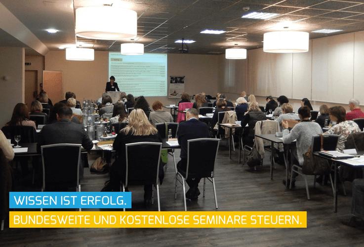 Top Weiterbildung und kostenlose Steuer Seminare für unsere Beratungsstellenleiter.