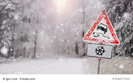 Unfälle auf dem Arbeitsweg wegen Glatteis