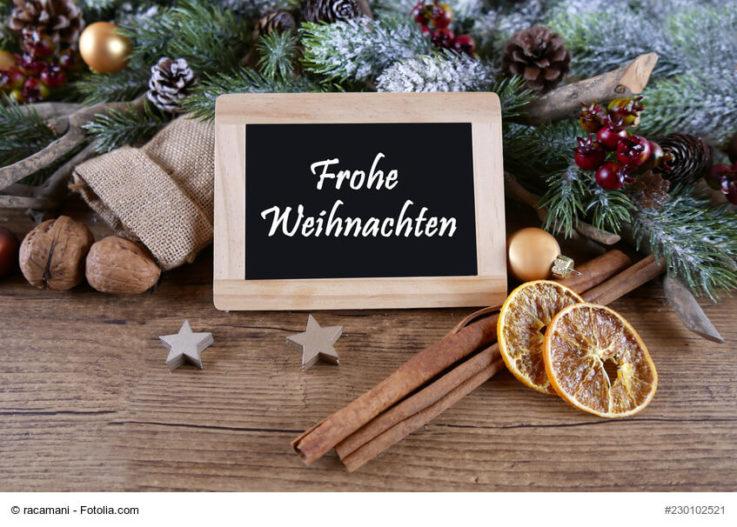 Fröhliche Weihnachten und viel Glück für das neue Jahr!